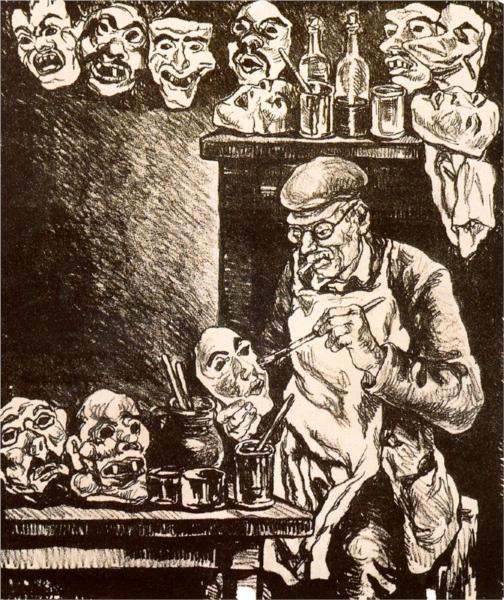 Ο σχεδιαστής των Μασκών - Jose Gutierrez Solana 1935