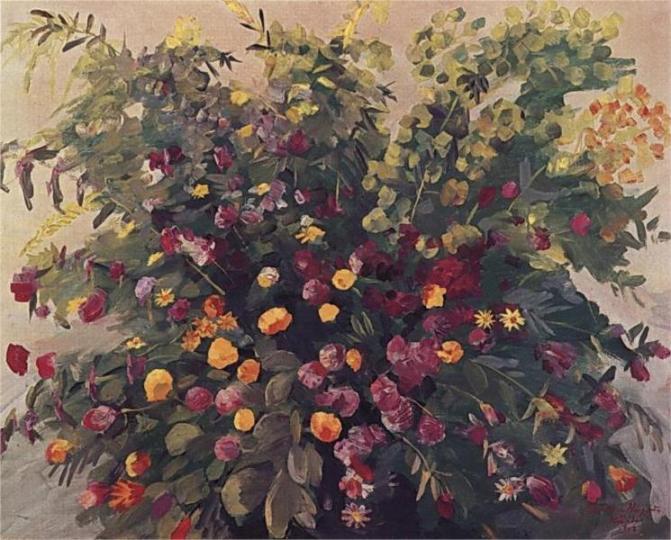 Ανοιξιάτικα λουλούδια Martiros Saryan 1947