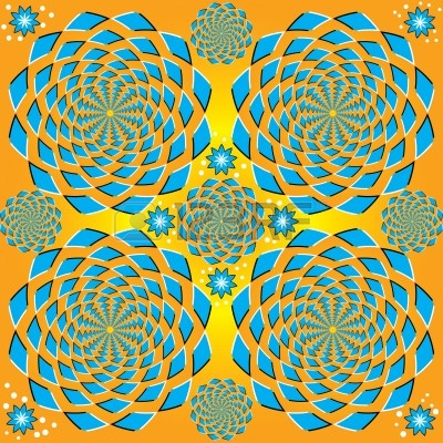 8017290-spinning-blue-floral--motion-illusion