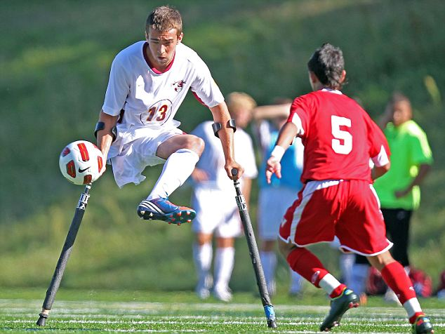One Legged High School Soccer Player