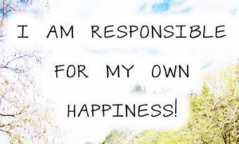 Είμαι υπεύθυνος για την ευτυχία μου