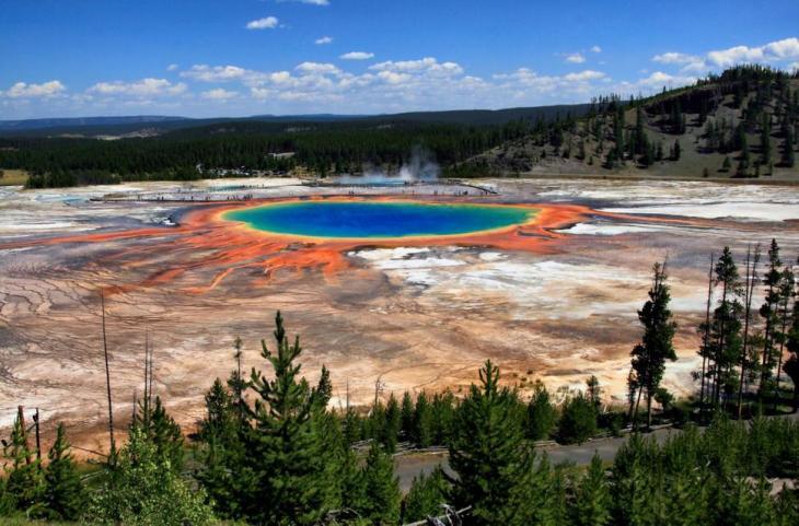 Θερμές πηγές Grand Prismatic , Wyoming.