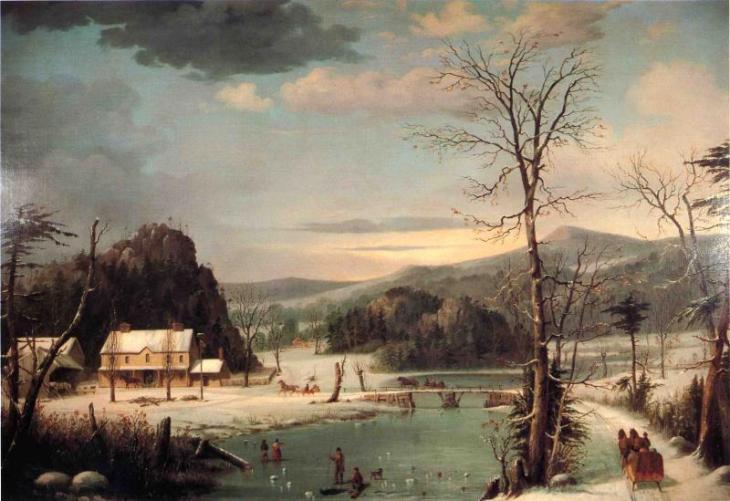 Χριστουγεννιάτικο πάρτι - George Henry Durrie - 1852