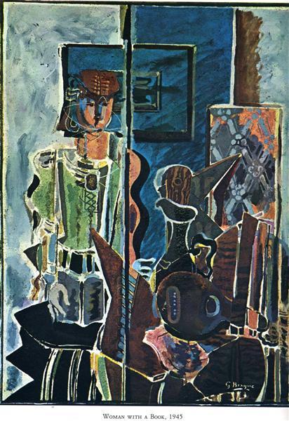 Γυναίκα με βιβλίο -Georges Braque 1945