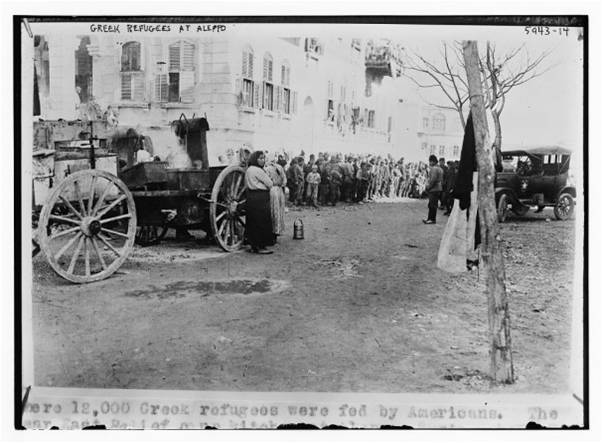 Ελληνες προσφυγες στο Χαλεπι κατά τη φυγη τους από Τουρκια σε Συρια 1919