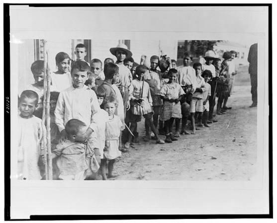 Ελληνοπουλα και παιδια προσφυγων της Αρμενιας - 1923