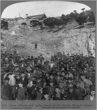 Μεταλλωρυχοι στο Λαυριο1903