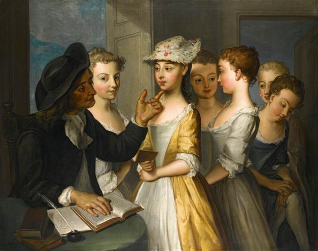 Philip MERCIER, Σχολείο για κορίτσια 1738