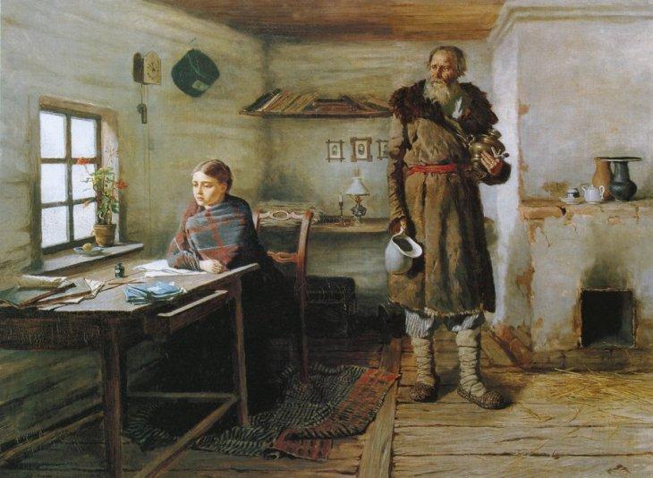 ο δάσκαλος του χωριού - Konstantin Trutovsky - 1883
