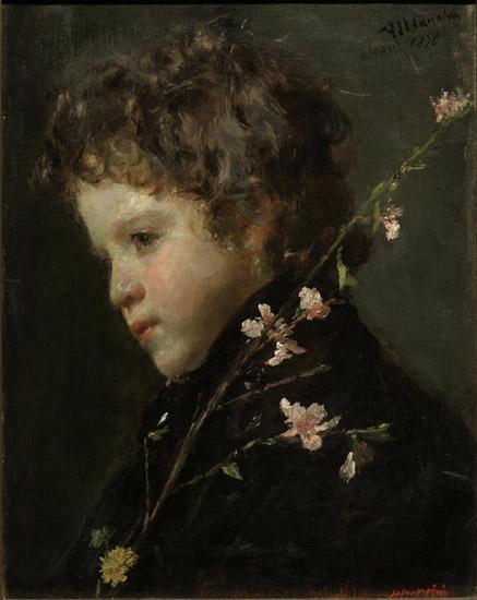 ανθισμένο κλαδί αμυγδαλιάς - Antonio Mancini 1876