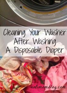 Disposable Diaper + Washer =  No Bueno