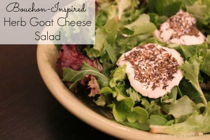 Bouchon-Inspired Herb Goat Cheese Salad