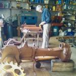 1953 John Deere 40C - during restoration