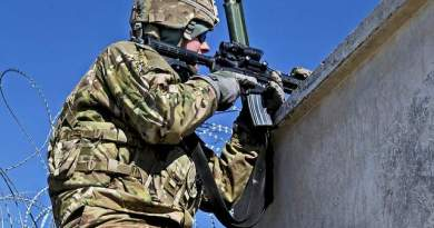 A soldier with 1st Squadron, 91st Calvary Regiment, 173rd Airborne Brigade Combat Team provides security Jan. 5 in Logar province, Afghanistan. (Spc. Alexandra Campo / Army)