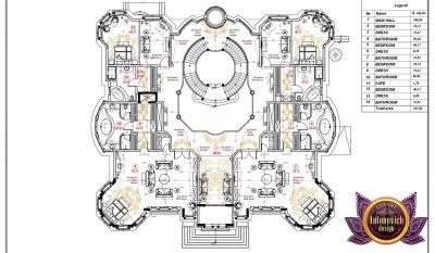 Luxury villa floor plan in UAE