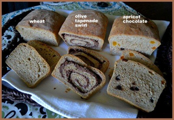 Three Breads on Tray