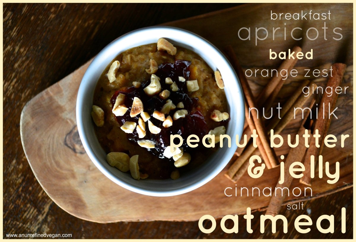 Vegan MoFo 14: Baked Peanut Butter & Jelly Oatmeal