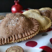 Heart-shaped Cherry, Chocolate, & Almond Ricotta Hand Pies
