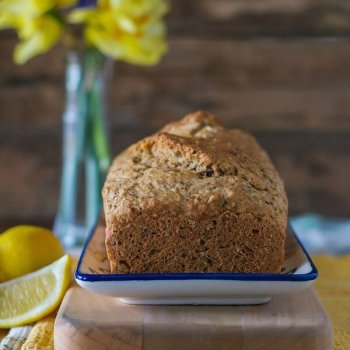 Three-Seed Lemon Tea Bread An Unrefined Vegan