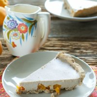 Roasted Apricot Custard Pie, BlogHer, & Jazzy Vegetarian Radio
