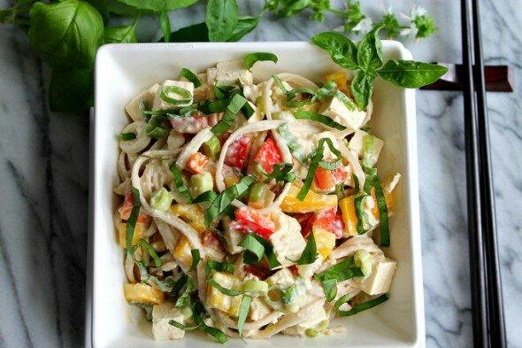 Thai-Noodle-Tofu-Salad Parsley in My Teeth