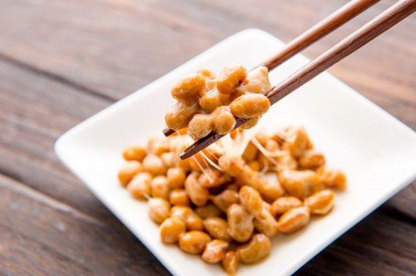 納豆の箸上げ写真