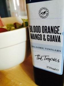 Blood Orange, Mango & Guava balsamic vinegar.