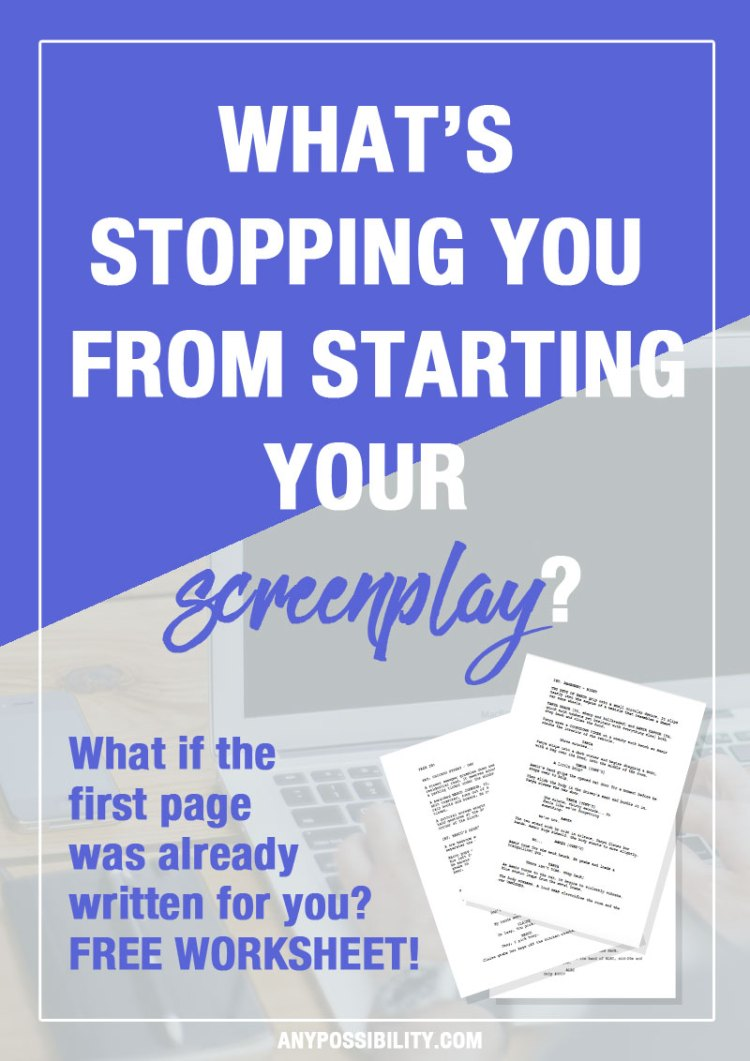 Could you write one page of your screenplay right now? Screenwriting made easy. The first page is already written for you. Try out this writing exercise to get the creative juices flowing!