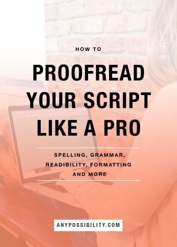 How to Proofread Your Script Like a Pro