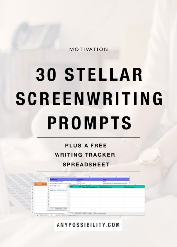 20 Stellar Screenwriting Prompts to help you come up with a new idea. Try them out as a writing exercise. Grab your free writing tracker spreadsheet too!