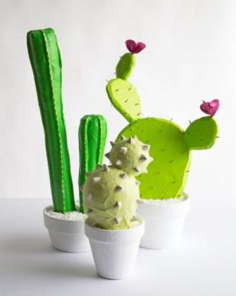 paper mache cacti
