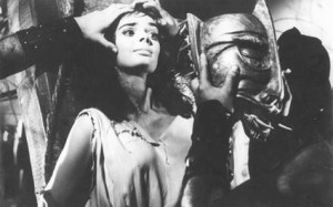 Barbara Steele, about to partake in a facial shot in BLACK SUNDAY (1960)