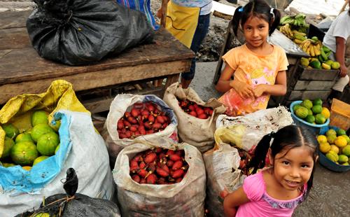 Children and fruit