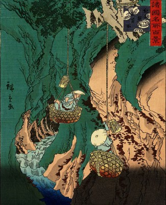 Image: from Shokoku meisho hyakkei by Hiroshige II (Chinpei Suzuki), 1860.