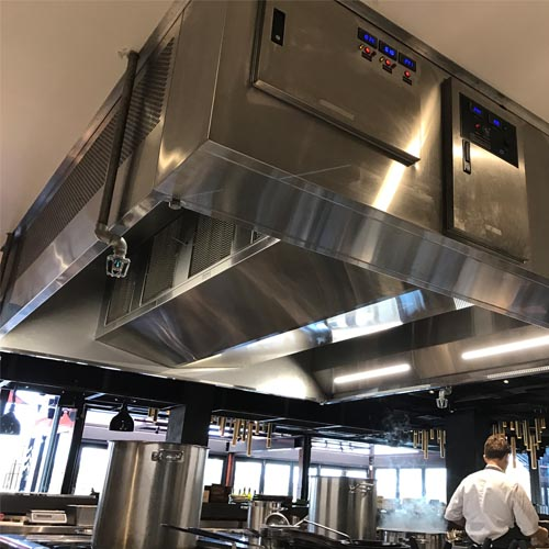 AOM Air and Odor Management Kitchen Hood