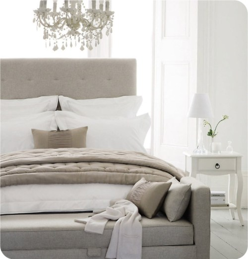 grey and white bedrooms
