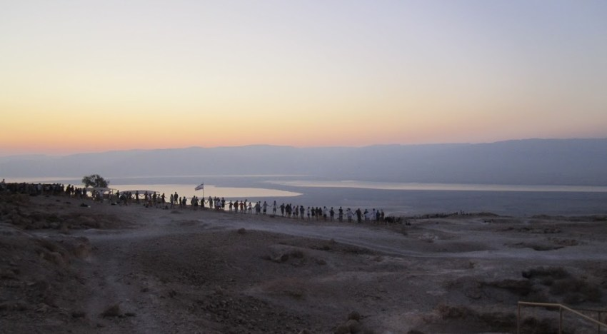 Sunrise at Mount Masada: A Bright and Cheery Photo Essay