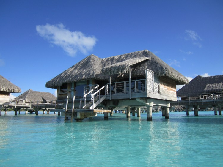 over water bungalow bora bora