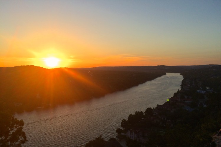 sunset mount bonnell austin texas