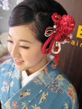 卒業式ヘアメイク袴の着付け11