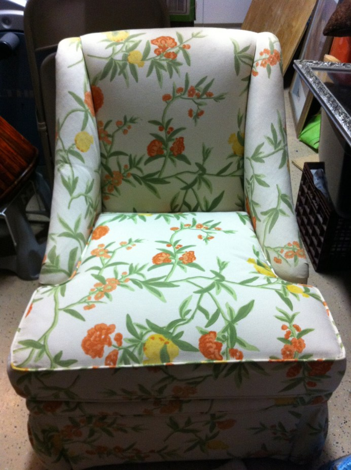 Before picture of old chair