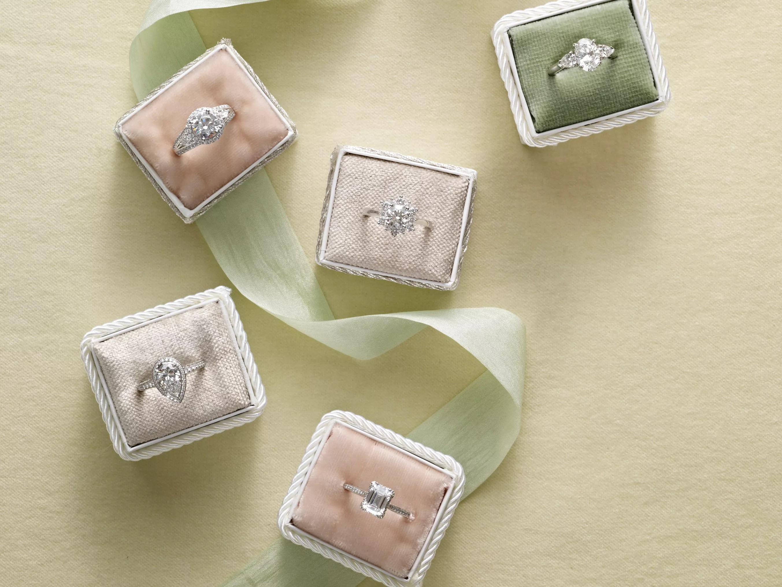 engagement ring settings different wedding rings