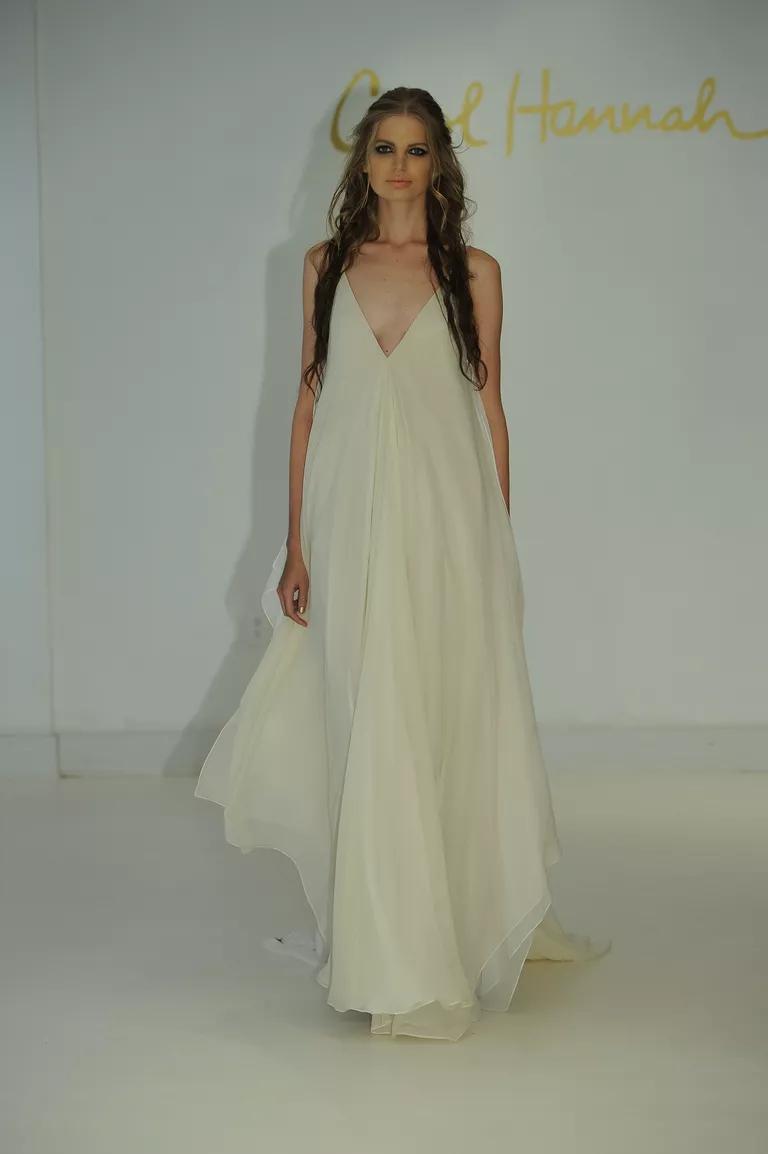 12 boho wedding dresses we love from bridal fashion week boho wedding dresses Carol Hannah Wedding Dresses Spring Summer img class