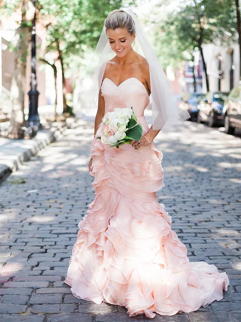 blush colored wedding dress blush wedding dresses The Prettiest Blush And Light Pink Wedding Gowns