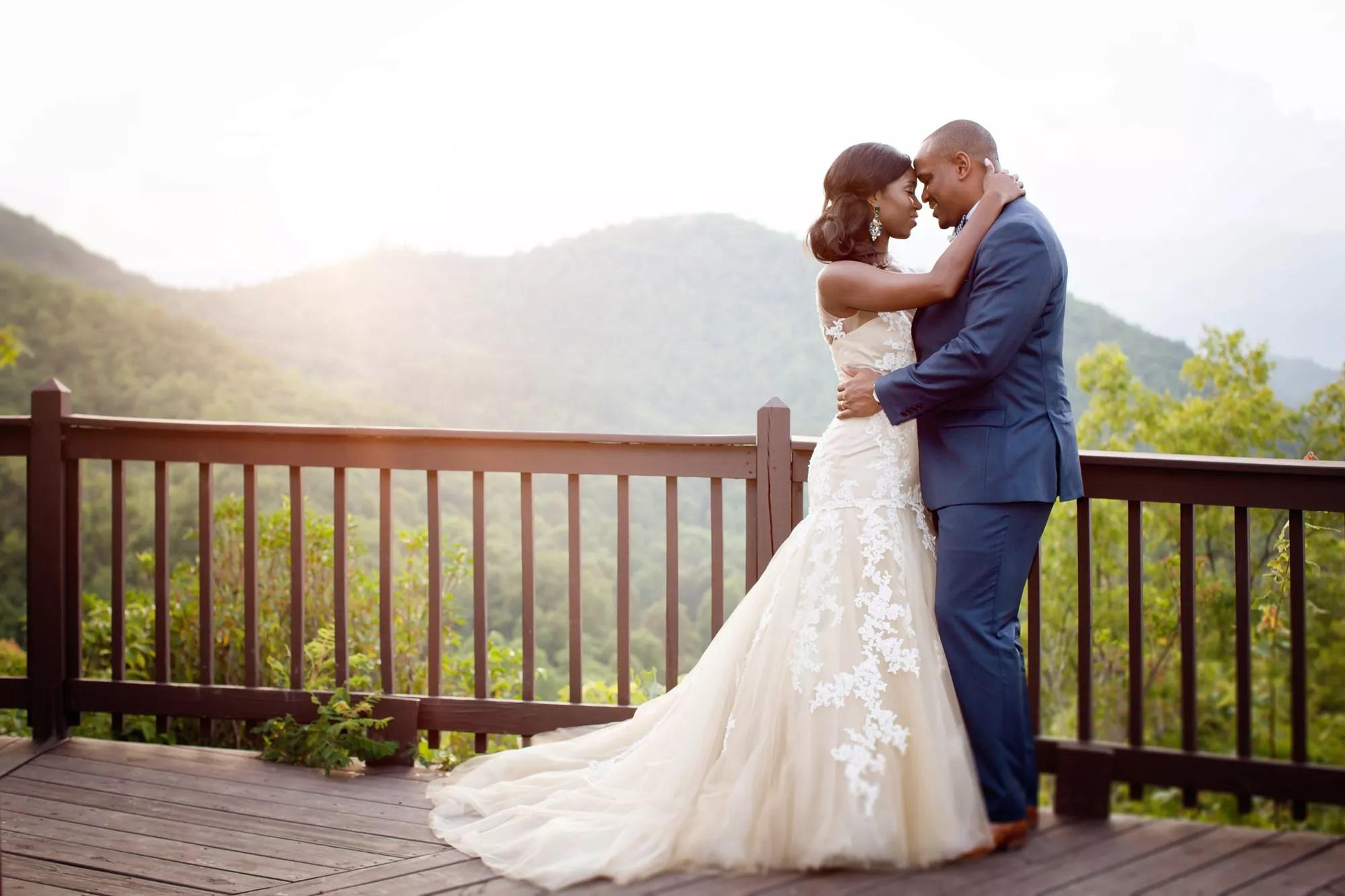 african american albums african american wedding dresses An Elegant Mountainside Wedding at Hawkesdene House in Andrews North Carolina
