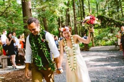 Traditional Hawaiian Lei Wedding Ceremony