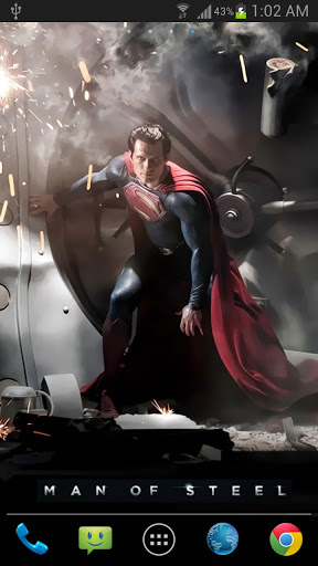 Superman Live Wallpaper Android -Free Apps