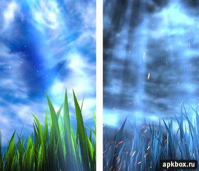 Скачать живые обои 3D Grass на Android (небо и трава)