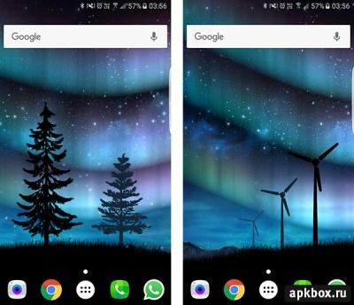 Живые обои Aurora Звёздное Небо: скачать на Андроид | apkbox.ru