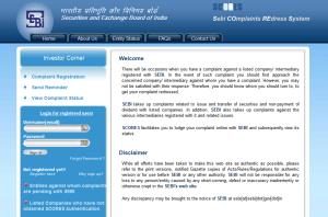 SEBI Complaints Redressal System